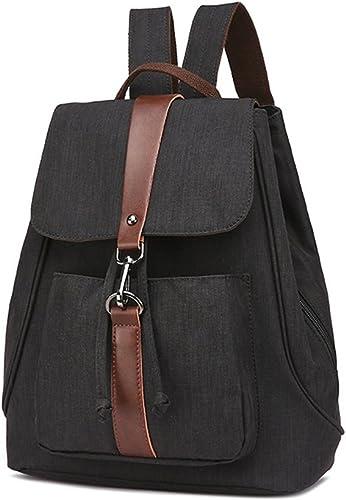 Sac à dos femme Sac à dos pour femmes sac à dos imperméable à l'eau Vintage Drawstbague Toile école sac pour ordinateur portable randonnée en plein air pour le sport, la gymnastique, la randonnée, le