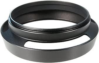 CamDesign 55mm Pro Angle Vented Metal Lens Hood Sun Shade Compatible with Leica/Contax Zeiss/Voigtlander/Panasonic Lumix/Fujifilm/Olympus/Nikon/Canon/Sony/Pentax/Samsung/Sigma Cameras w/ 62mm lens cap