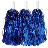 Juvale Deportes Anima Pom poms, metálico Azul Real (12 Unidades)