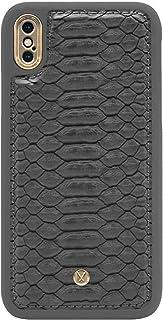 مارفيل N300 غلاف حماية ميغناطيسي من جلد البولي يوريثان لهاتف ابل ايفون اكس و ايفون اكس اس، رمادي