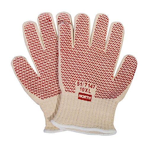 Honeywell North Grip N Hot Mill Nitrile Coated Men's Heat-Resistant Gloves, 7 gauge, Large...