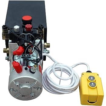 Amazon Com New 12v Hydraulic Pump Hydraulic Power Unit Electric Dump Trailer Power Unit Double Acting 6 Quart Home Improvement
