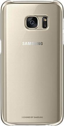 Samsung Clear Cover - Funda oficial para Samsung Galaxy S7, color dorado