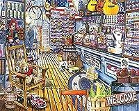 店内のおもちゃ大人向けDIYペイント初心者向け抽象芸術アクリルキット寝室の40x50cm(フレームレス)