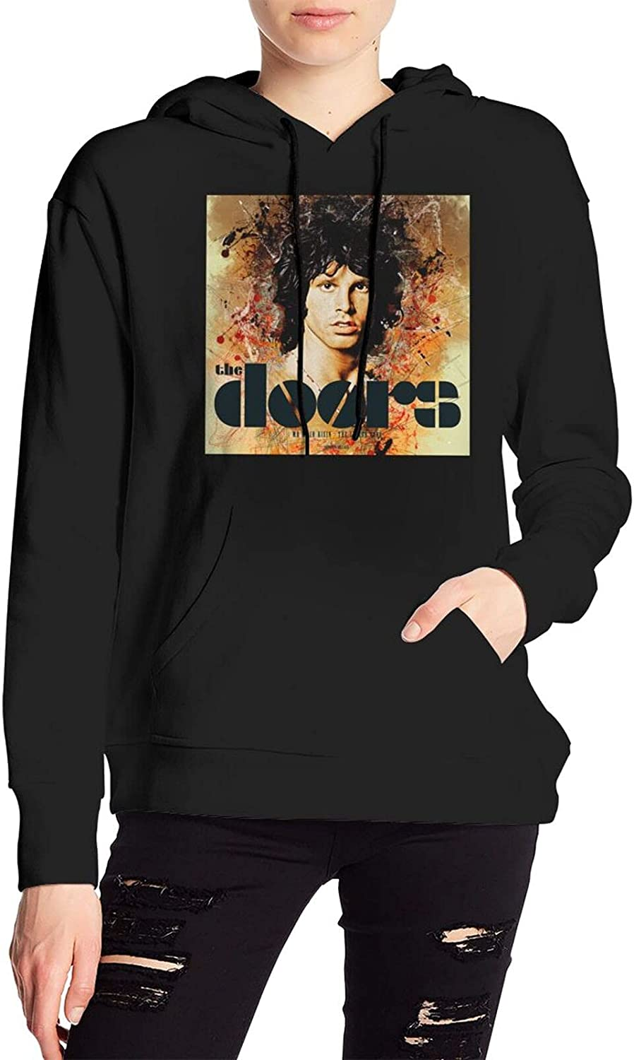Jim Morrison Village Sweater Fashion Hooded With Pocket For Mens Women