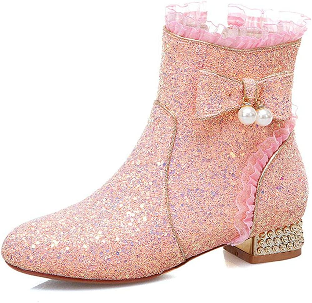 SO SIMPOK Women's SquareToe Chucky Ankle Boots Ladies Max 56% Selling rankings OFF Block Heel