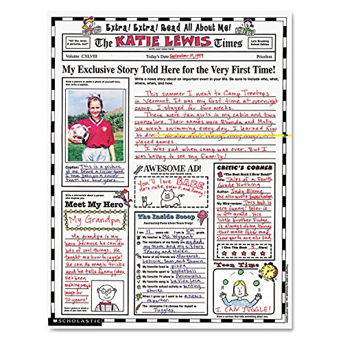 Scholastic Instant Personal Poster Sets, Extra Read All About Me, 17 x 22 Inches, 30/Pack (SHS0439152917)