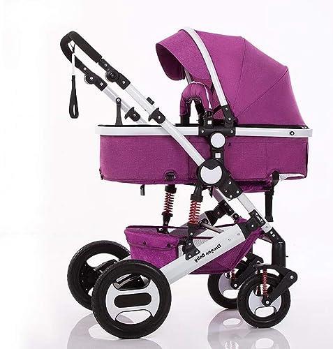 ¡envío gratis! WHYDIANPU El cochecito de bebé se se se puede sentar y colocar amortiguador plegable, ultra liviano, para bebés, con carrito para el jardín. (Color   púrpura)  barato y de alta calidad