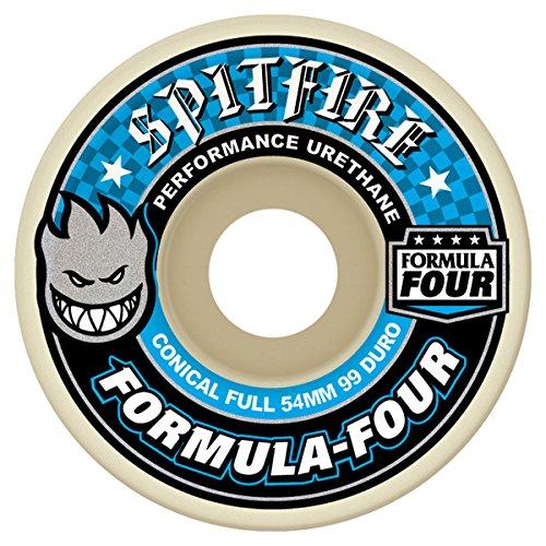 Spitfire Formula Four 99 Conical Full (Blue Print) Wheels-54 mm