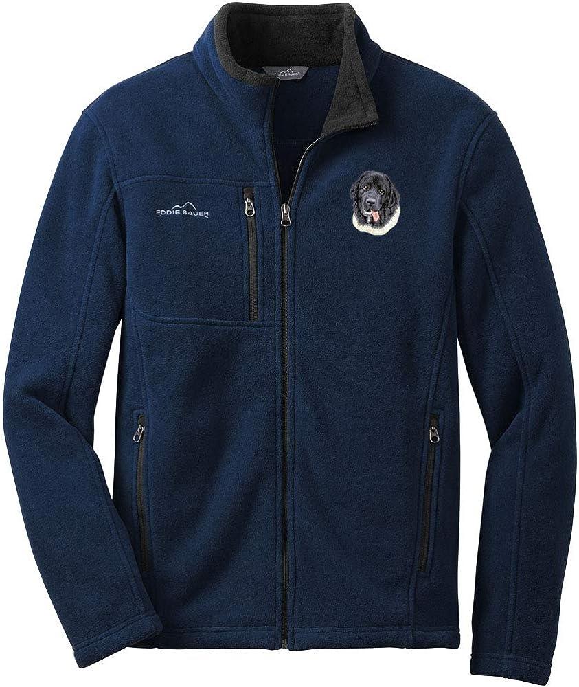Cherrybrook River Blue Dog Breed Embroidered Mens Eddie Bauer Fleece Jacket (All Breeds)