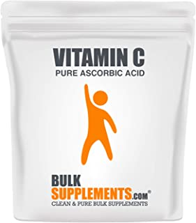 BulkSupplements.com Vitamin C Powder - Pure Ascorbic Acid (300 Gelatin Capsules - 300 Servings) Non-GMO - Gluten Free