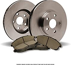 (Front Kit)(OE SPEC)(Perfect-Series) 2 Disc Brake Rotors & 4 SemiMet Pads(Jeep)(5lug)