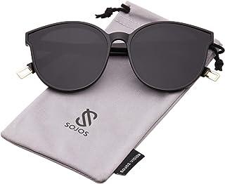 4165f424c SOJOS Fashion Round Sunglasses for Women Men Oversized Vintage Shades SJ2057