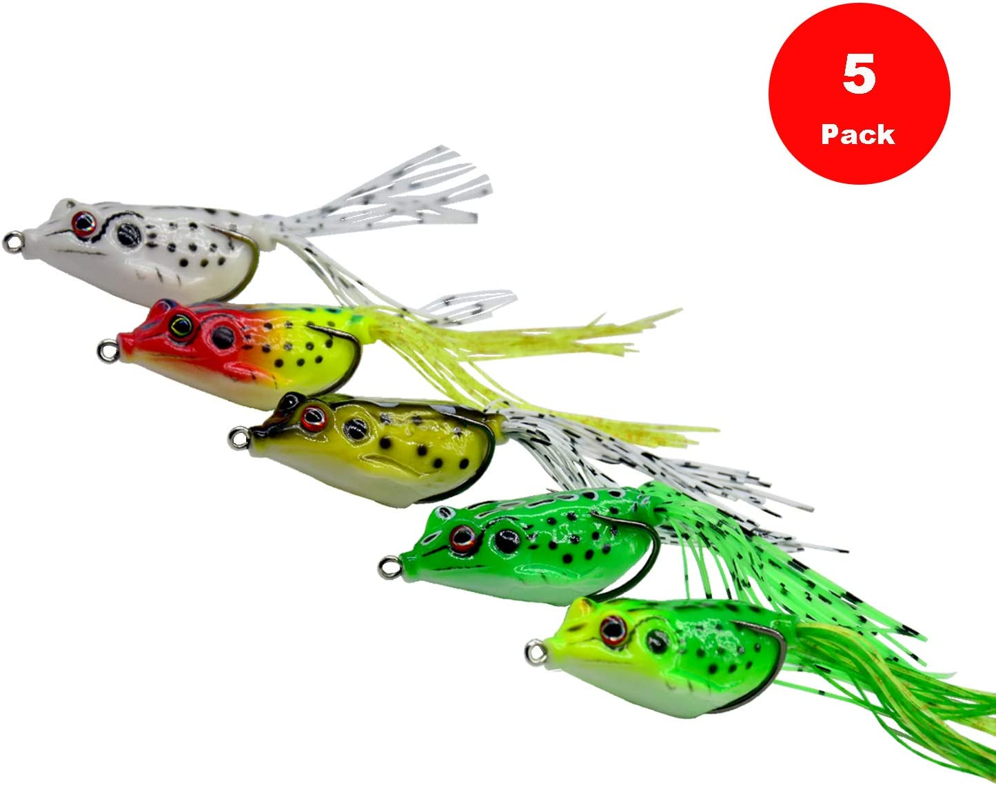 Online limited product Yosawa 5-Pieces OFFicial store Fishing Lures Topwater Frog with Floating Baits