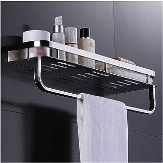 Antirouille Salle de bain flottant étagère en acier inoxydable Baignoire carrée Organisateur douche étagères de cuisine Su...