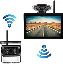 PolarLander 12V / 24V Monitor inalámbrico de 5 Pulgadas para Aparcamiento HD + cámara de visión Trasera inalámbrica IR Sistema de Asistencia para Aparcamiento para Camiones Remolque Trailer Bus