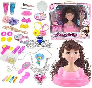 Urben Life Maquillaje para Ni/ña Cabeza De Mu/ñeca Princess Coralie Cabeza para Maquillar Y Peinar Juguete Cabezal De Peluquer/ía Que Incluye Cosm/éticos Y Accesorios