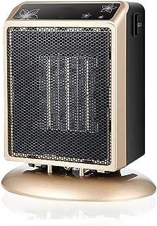 CCFCF Mini Calefactor Cerámico, Calentador De Espacio Eléctrico Portátil Personal para Cuarto/Baño/Oficina,Metálico