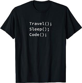 Travel(); Sleep(); Code(); T-Shirt