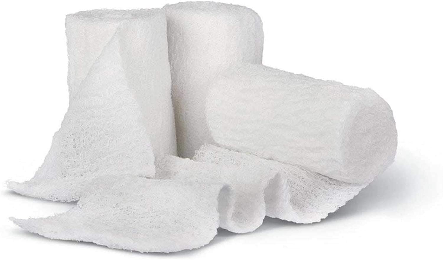 6-Pack Popular Import products Sterile 8-Ply Gauze Medical Bandage Rolls-100% Wrap Fluff