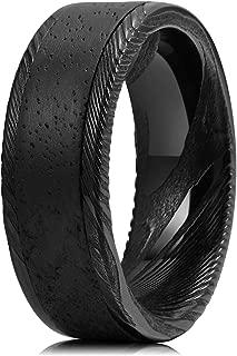 black damascus steel ring