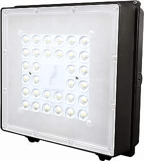 LED Canopy Light 80W 400W HPS/MH Replacement 5000K 10000lm 100-277V Commercial Canopy Flood Light DLC UL&ETL Listed
