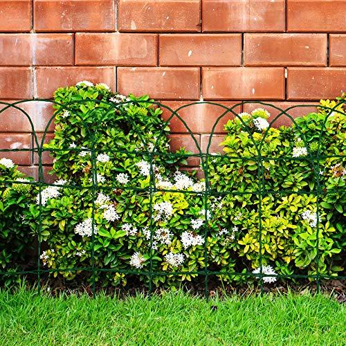 Floordirekt Ziergeflecht | Grün | Maschenweite: 15x9 cm | 4 Größen | Ziergitter für Garten (40 cm x 25 m)