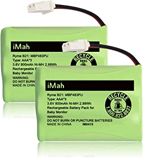 iMah Ryme B21 Battery Compatible with VTech VM312 VM3251 VM3252 VM3261 Baby Monitor (The Connector only fits Motorola Newe...
