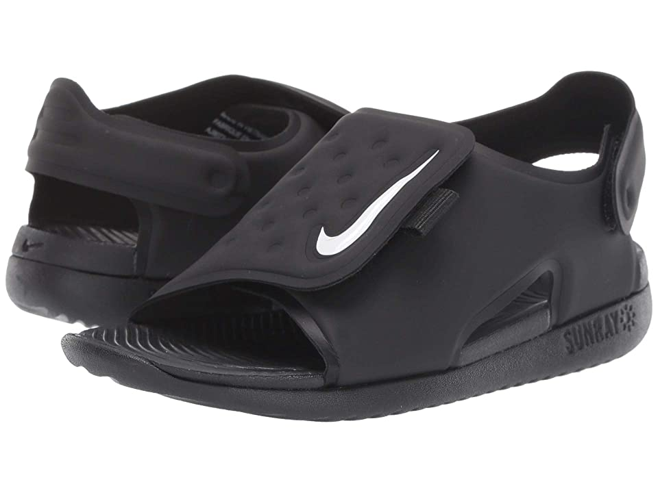 Nike Kids Sunray Adjust 5 (Infant/Toddler) (Black/White) Boys Shoes