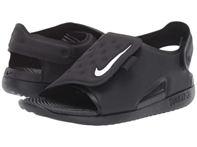 Nike Kids Sunray Adjust 5 (Infant/Toddler) (Black/White) Boys Shoes