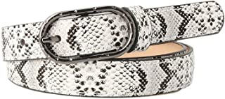 snakeskin Leather Buckle Leisure Belt Trouser Accessories For Woman
