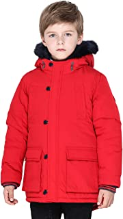 SOLOCOTE Heavyweight Winter Coats for Boys Warm Tough Thick Hooded Lined Jacket Water Resistant Windbreaker