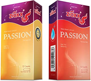 Zioxx Hyaluronic Acid Lubricants Passion Condom 24 Pieces(2 Pack) …
