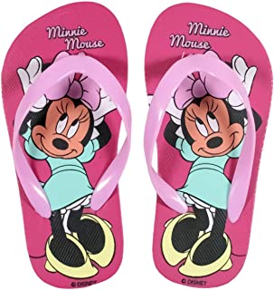 Minnie Tongs Enfant Fille Disney Blanc//Rose du 24 au 31