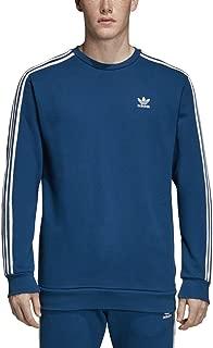 Men's Originals Monogram Crewneck Sweatshirt 3 Stripes Long Sleeves - DV2069 (Legend Marine)