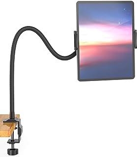 Aluminium Gooseneck Tablet Stand & Cell Phone Holder,Universal 360° Flexible Tablet Mount| Lazy Arm Holder Clamp Mount Bra...
