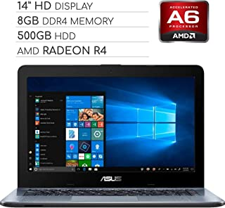 ASUS Vivobook 2019 Premium 14 HD Non-Touch Laptop Notebook Computer, 2-Core AMD A6 2.6GHz, 8GB...