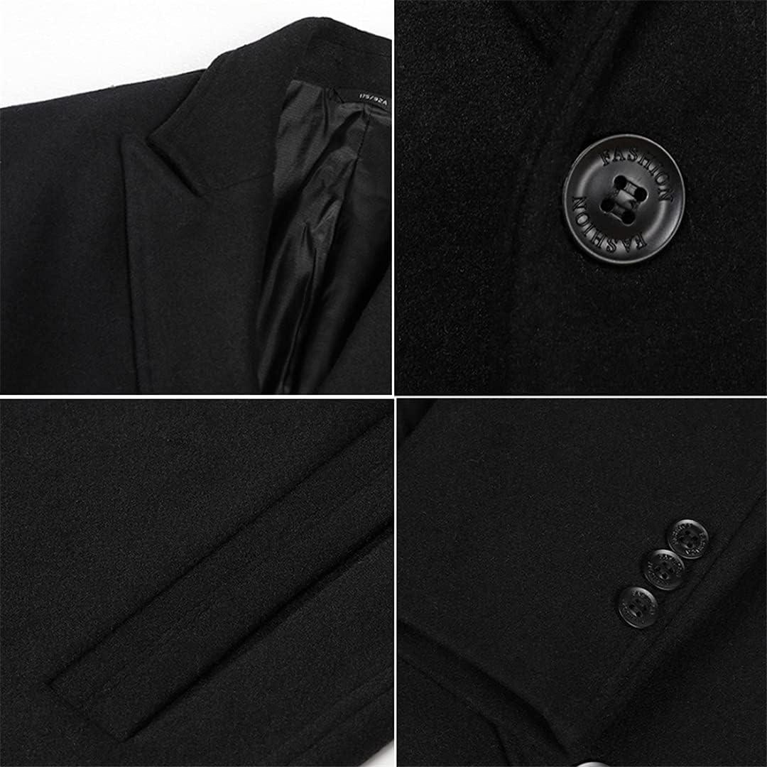 Long Jacket Men's Overcoat Wool Coat Winter Men Single Breasted Business Wool Blends Coat