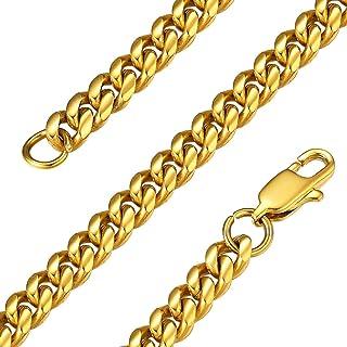 GoldChic Jewelry 6mm 10mm 14mm Grande Collana a Catena Miami, Anello Cubano in Acciaio Inossidabile 316l per Uomo e Donna,...