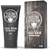 Viking Revolution Microdermabrasion Face Scrub for Men - Facial Cleanser to Exfoliate Skin, Deep...