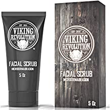Viking Revolution Microdermabrasion Face Scrub for Men - Facial Cleanser for Skin Exfoliating, Deep Cleansing, Removing Blackheads, Acne, Ingrown Hairs - Men's Face Scrub for Pre-Shave (1 Pack)