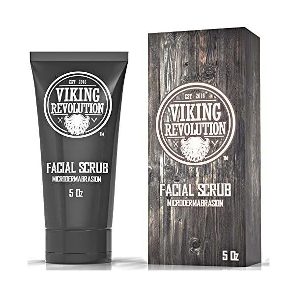 Viking Revolution Microdermabrasion Face Scrub for Men - Facial Cleanser for Skin Exfoliating, Deep Cleansing, Removing… 1