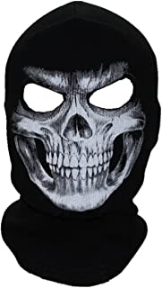ECYC Unisex Ghost Skull Full Face Balaclava Masks Warmly Motorcycles Mask Hood Beanie Halloween Cosplay Mask
