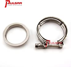 Pulsar Turbo 3 Inch Stainless Steel V-Band Flange Clamp Kit Garrett Precision Turbonetics T4 Frame Turbo Discharge