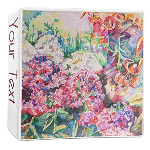 Watercolor Floral 3-Ring Binder - 2 inch