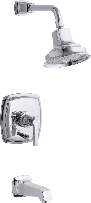 KOHLER K-T16237-4-CP Margaux Bath or Deck Mount Bath Faucet Trim with Lever Handles Polished Chrome