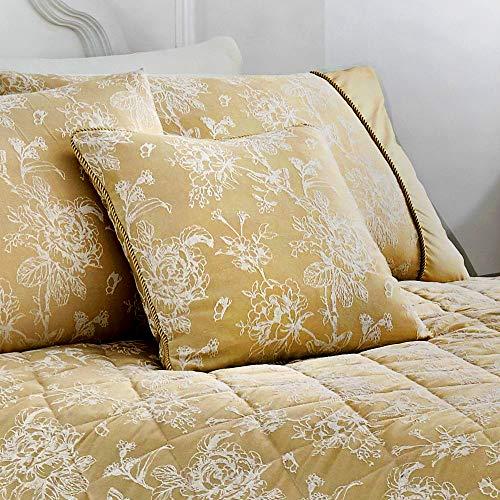 Serene - Jasmine - Filled Cushion - 43x43 cm | Champagne Gold