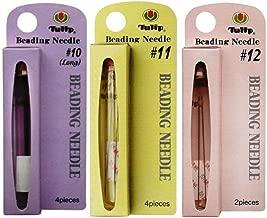 Bundle of 3 Sizes: Tulip Beading Needles Size 10, Size 11 & Size 12-1 Pack of Each
