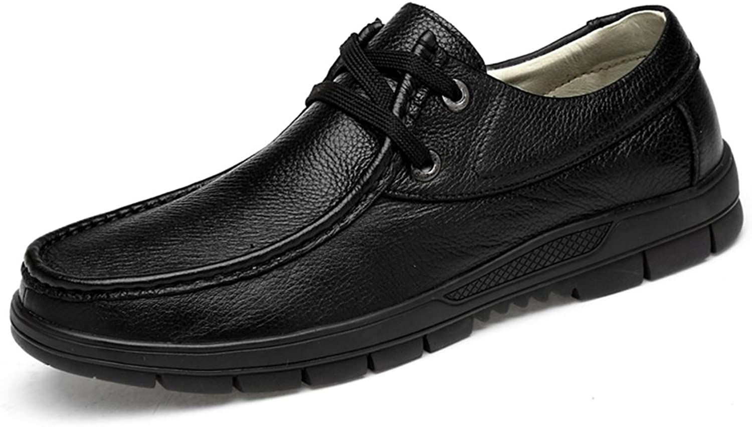 Men's shoes Leather Spring Summer Driving shoes Comfort Loafers & Slip-Ons Walking shoes Breathable Hollow-Out Split Joint for Casual Office & Career Formal Business Work (color   A, Size   41)