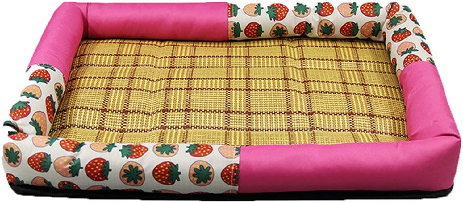 FH Four Seasons Oxford Kennel Cat Nest Small And Medium Sized Dogs Indoor Square Go To Bed Mat Pad Pet Dog Summer Cool Dog Size S Dog Houses